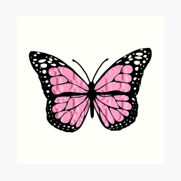 """designer butterfly """"D"""" Art Print"""