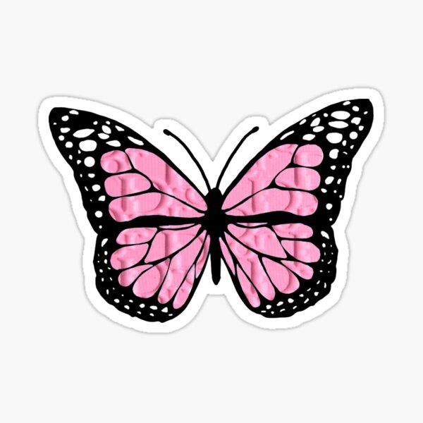 """designer butterfly """"D"""" Sticker"""