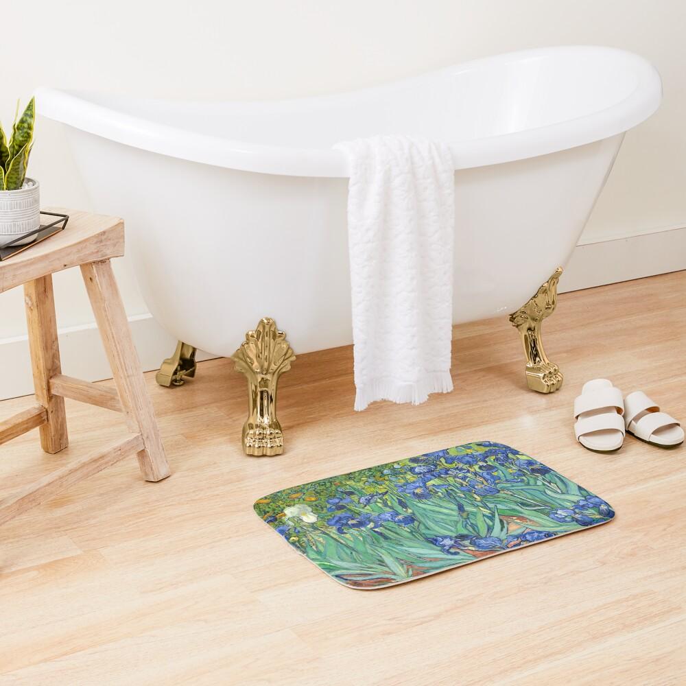 Vincent Van Gogh's Iris Bath Mat