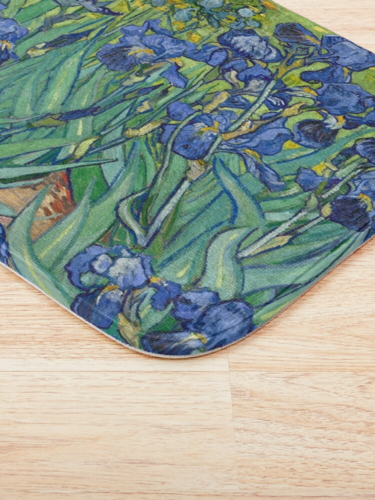 Alternate view of Vincent Van Gogh's Iris Bath Mat