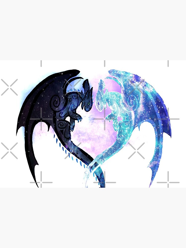 Dragon Heart Toothless and Light Fury by Unicornarama