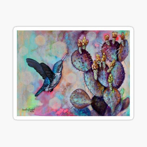 Hummingbird and Cactus I Pegatina