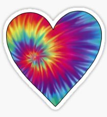 Tie-Dye Heart Sticker