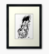 The Last Caress (white) Framed Print