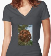 METAL TOPIARY Women's Fitted V-Neck T-Shirt