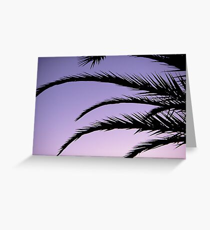 Palm tree sunset Greeting Card