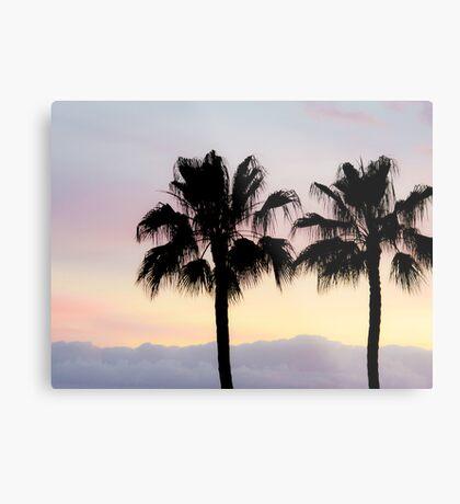 Palm trees at sunrise Metal Print
