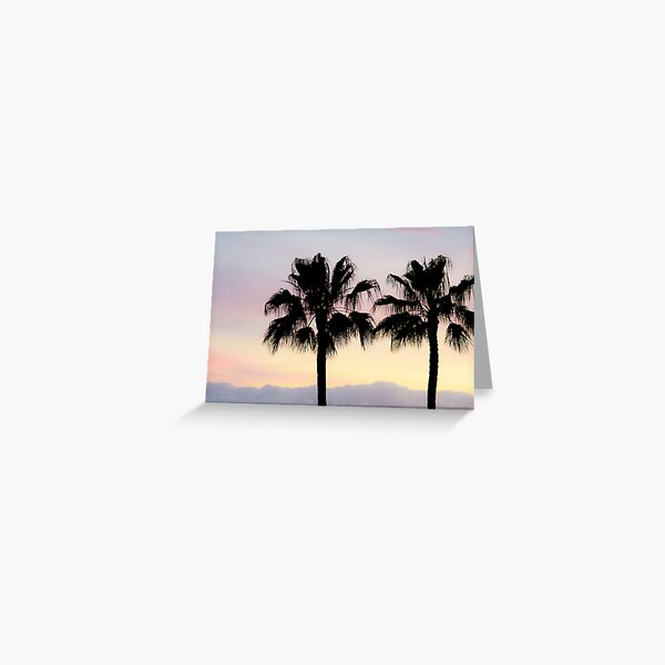 Palm trees at sunrise Greeting Card
