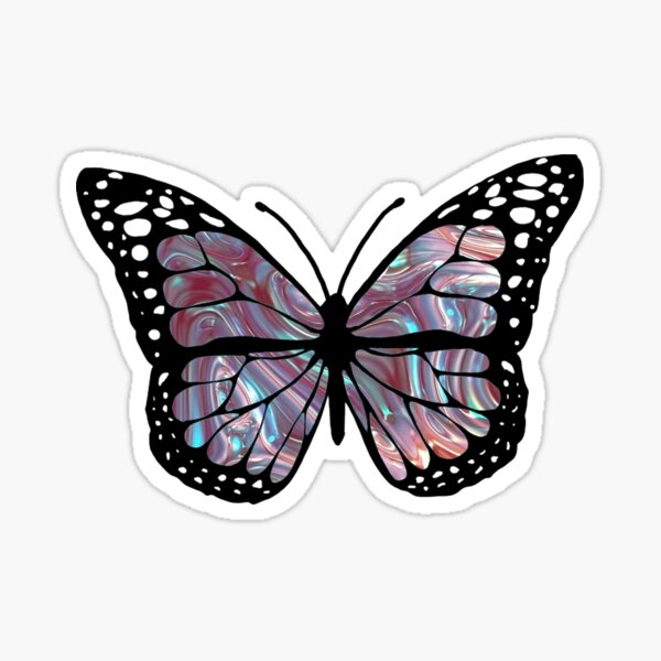 holographic 1 butterfly  Sticker