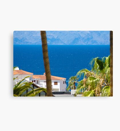 The view down to the sea Canvas Print