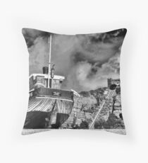 High and Dry - BW Throw Pillow