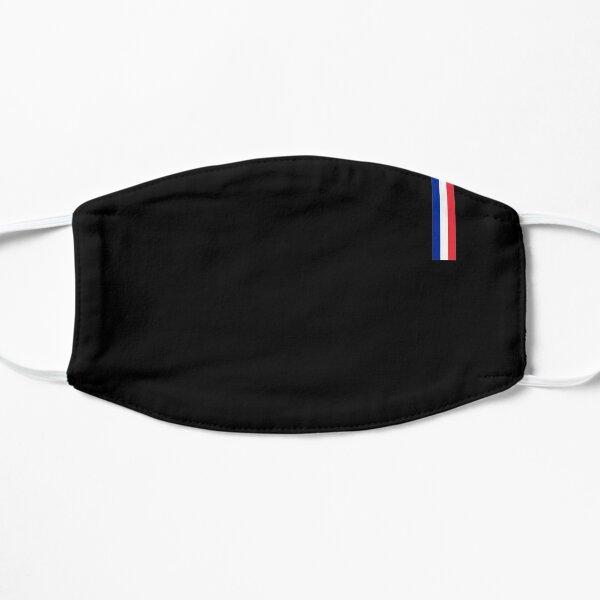 Drapeau de la France fin Masque sans plis