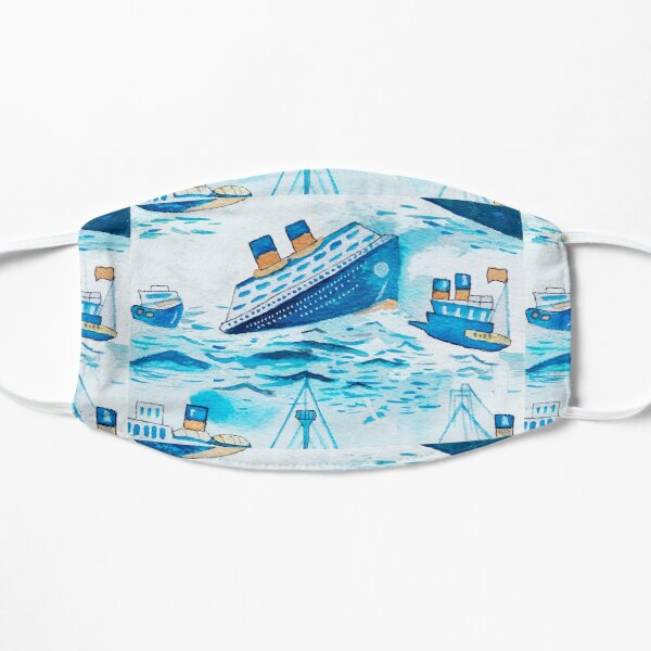 Ferry boats scrub cap Mask