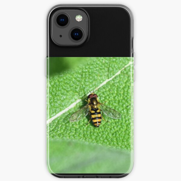 Little hoverfly on sage iPhone Soft Case