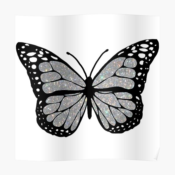 sparkly butterfly  Poster