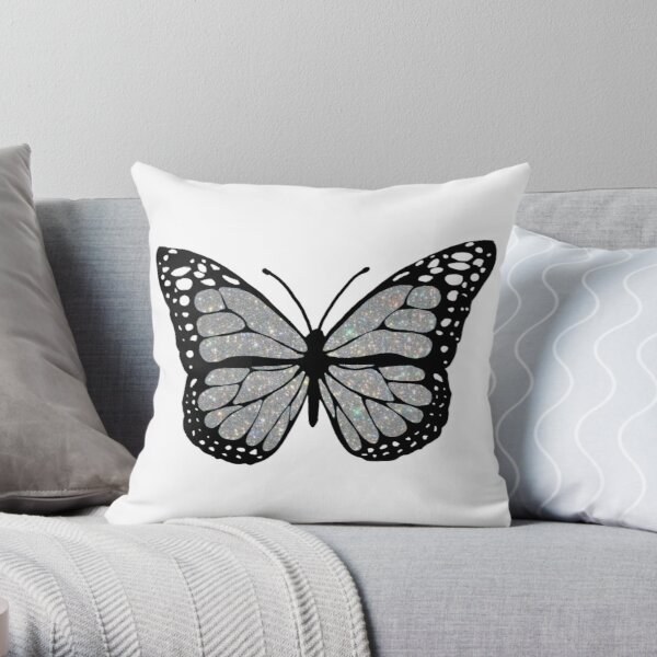 sparkly butterfly  Throw Pillow