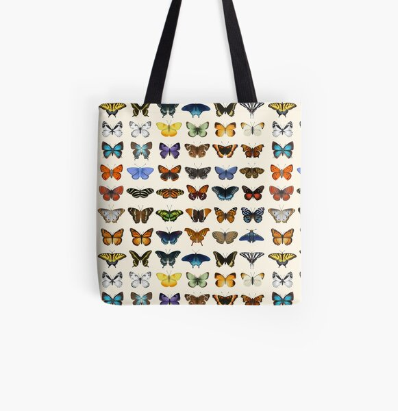 Butterflies of North America All Over Print Tote Bag