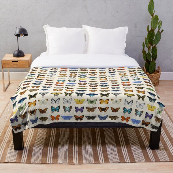 Butterflies of North America Throw Blanket