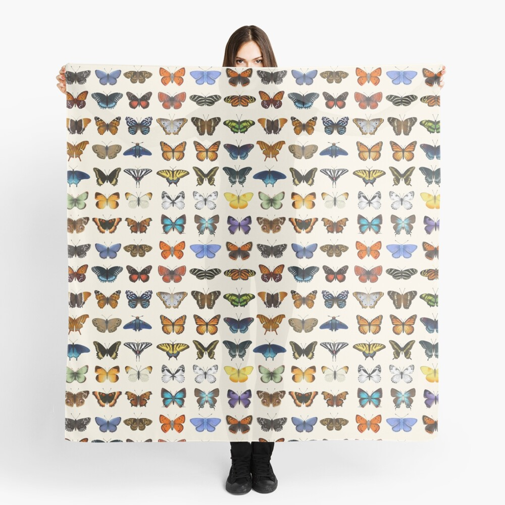 Butterflies of North America Scarf