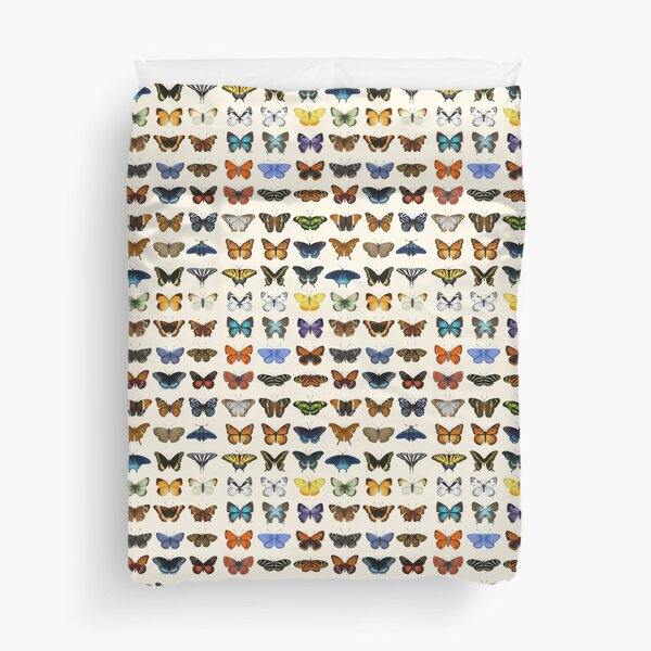 Butterflies of North America Duvet Cover