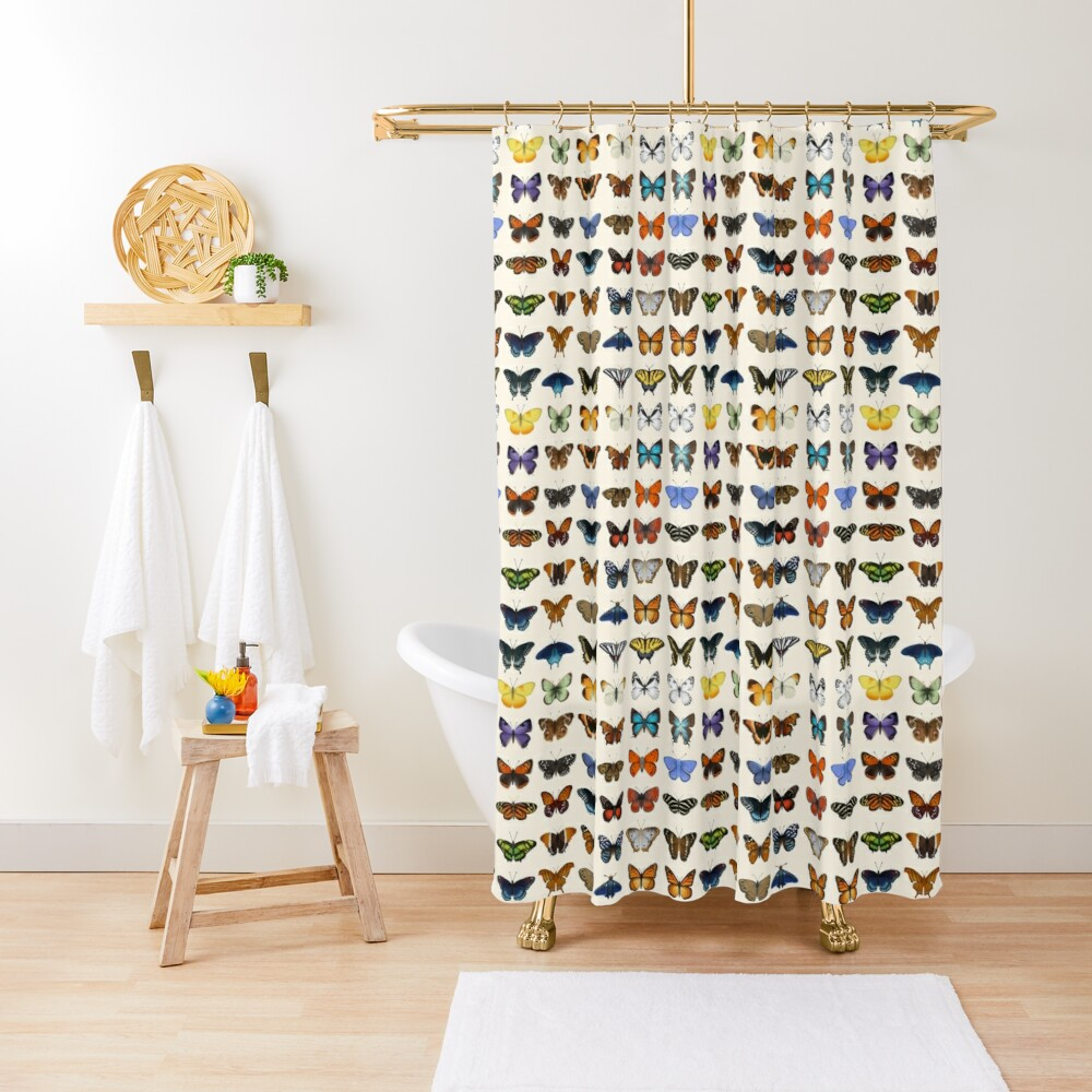 Butterflies of North America Shower Curtain