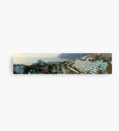 Panoramic of Los Gigantes Metal Print