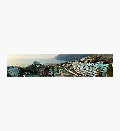 Panoramic of Los Gigantes Photographic Print