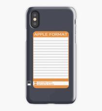 iPhone Floppy Label - orange iPhone Case/Skin