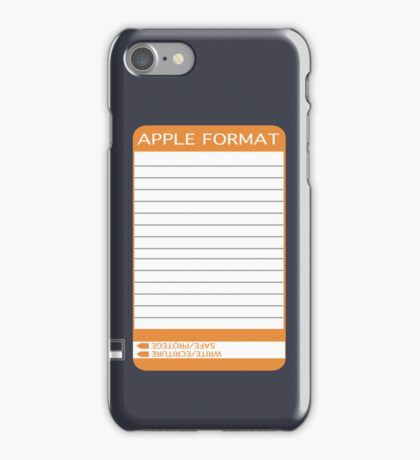 iPhone Floppy Label - orange iPhone Case/Skin