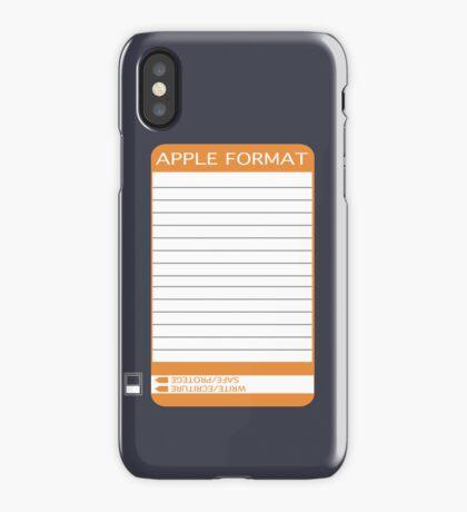 iPhone Floppy Label - orange iPhone Case