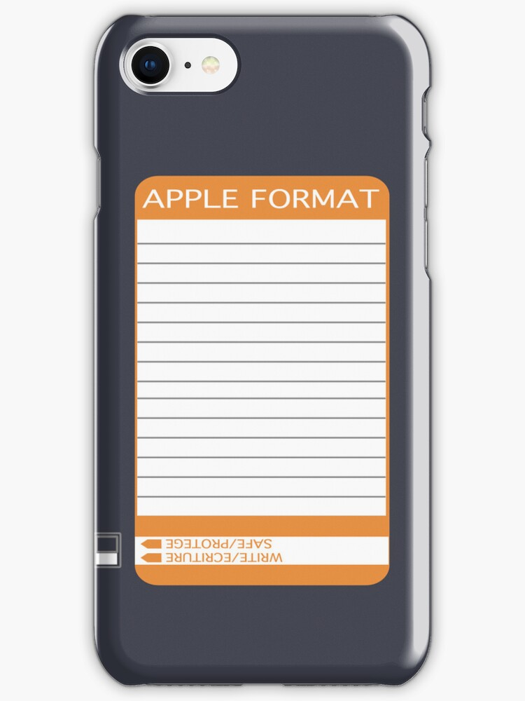 iPhone Floppy Label - orange by Maggie McFee