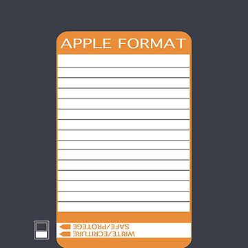 iPhone Floppy Label - orange by pulpfaction