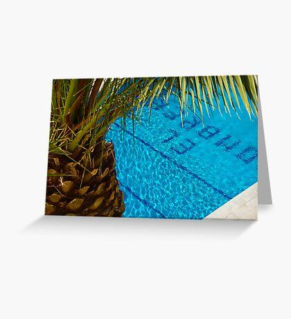 The pool at El Sombrero Greeting Card