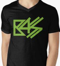 BASS (neon green)  Men's V-Neck T-Shirt