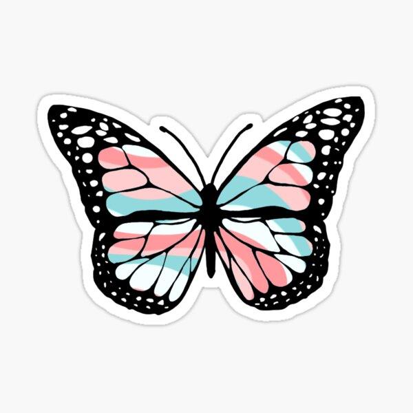 wavy 1 butterfly  Sticker