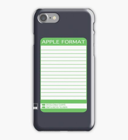IPhone Floppy Label - green iPhone Case/Skin
