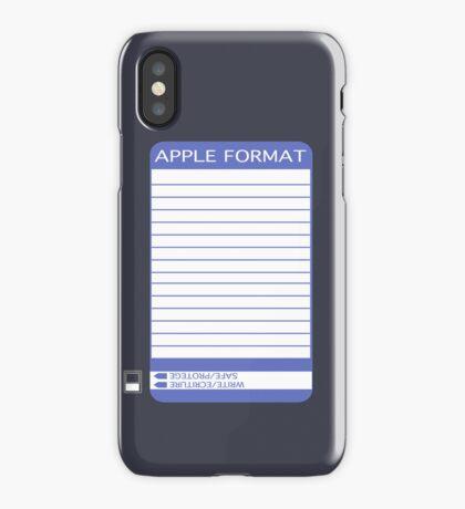 iPhone Floppy Label - purple iPhone Case