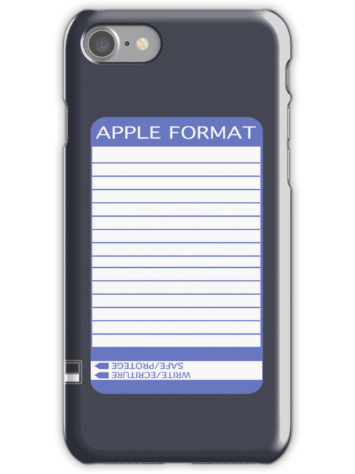 iPhone Floppy Label - purple by Maggie McFee