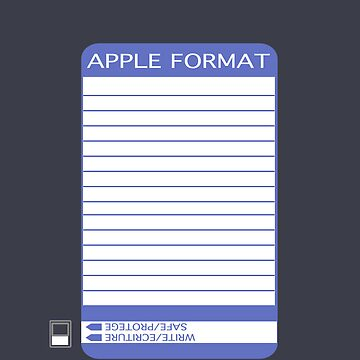 iPhone Floppy Label - purple by pulpfaction