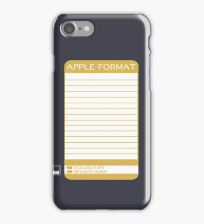 iPhone Floppy Label - gold iPhone Case/Skin