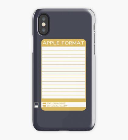 iPhone Floppy Label - gold iPhone Case