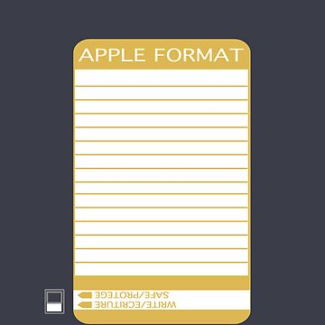 iPhone Floppy Label - gold by pulpfaction