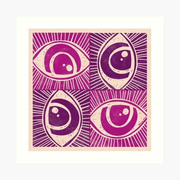 Woodblock Eye Art Print