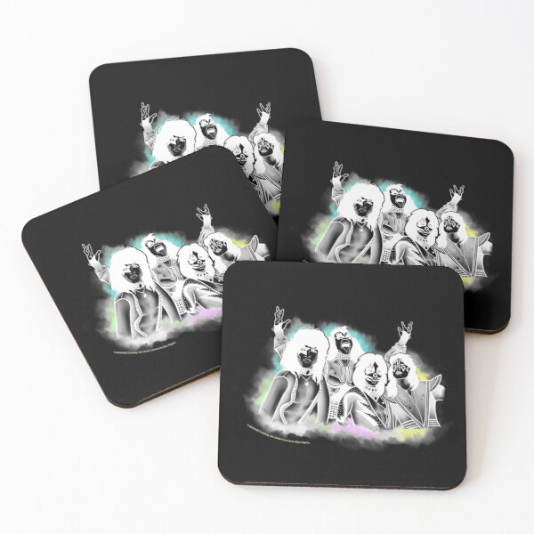 KISS - The Band - Inverted Airbrush Color Design Coasters (Set of 4)