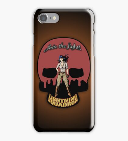 Lightning Squadron Deathshead (Katie Galaxy) iPhone Case/Skin