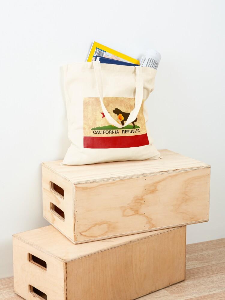 Alternate view of California Flag Face Mask Tote Bag