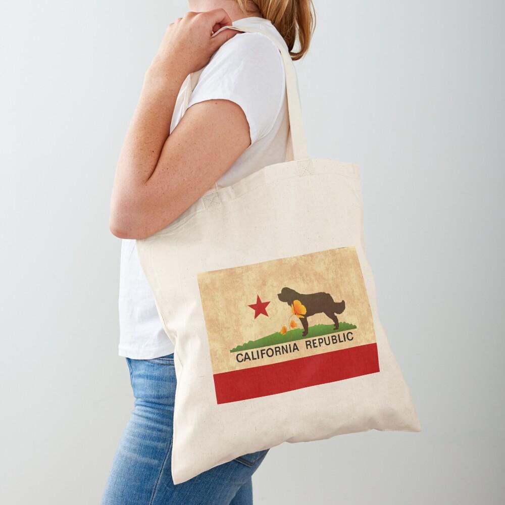 California Flag Face Mask Tote Bag