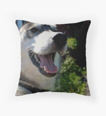 The Happiest Girl In Town Throw Pillow