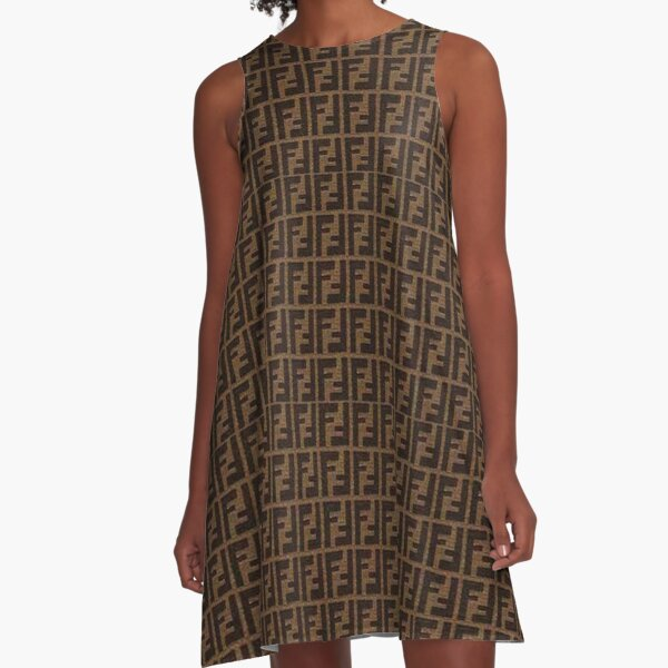 Fendi Collage A-Line Dress