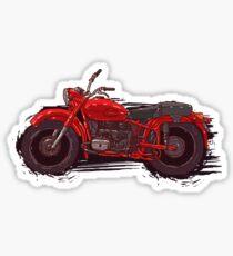 red vintage motorcycle Sticker